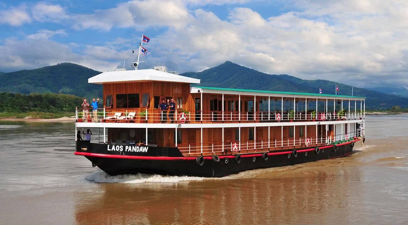 Pandaw cruises en el rio Mekong