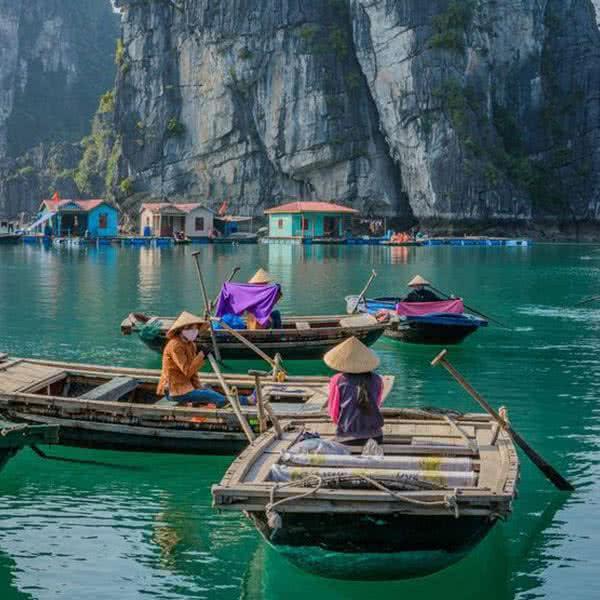 la vida del agua en Vietnam