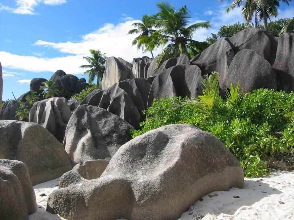 Playas roca en Seychelles