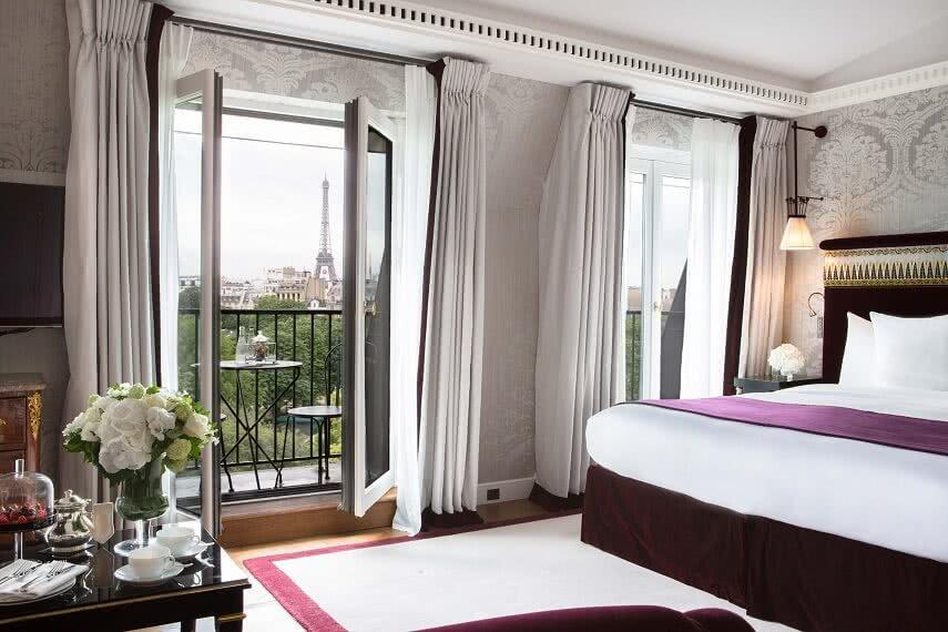 vistas desde la habitacion del hotel La reserve Paris