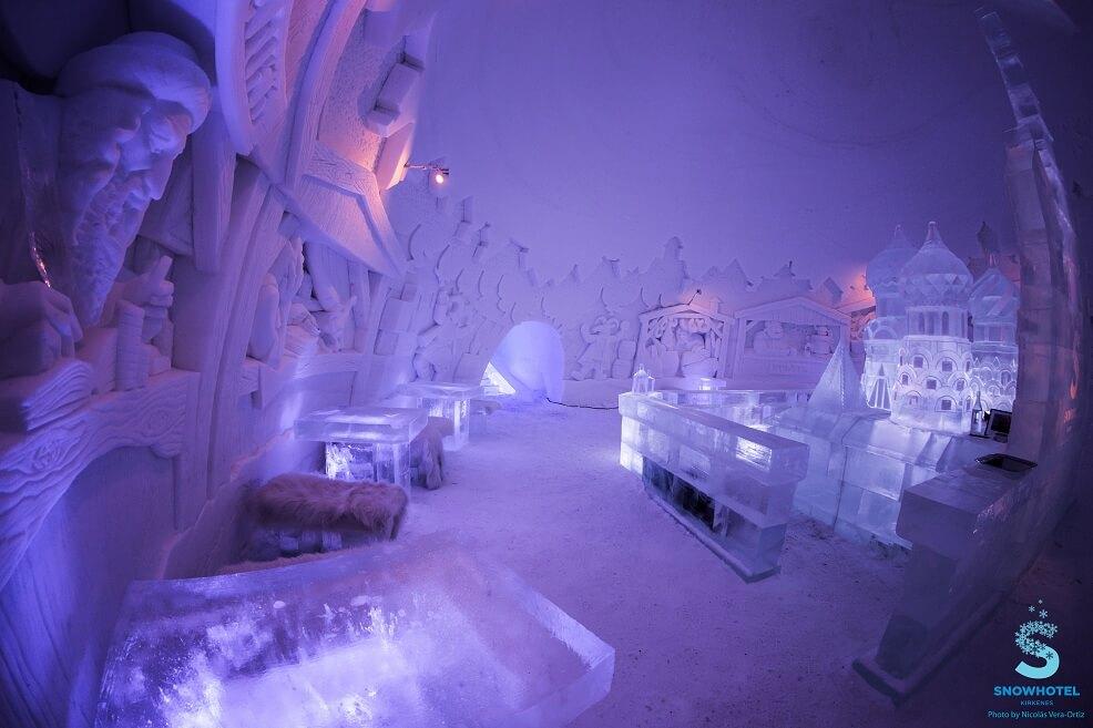 Auroras y Hotel de Hielo en Noruega