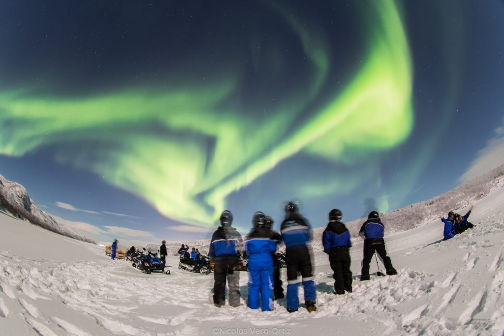 Snowmobile Northen Lights