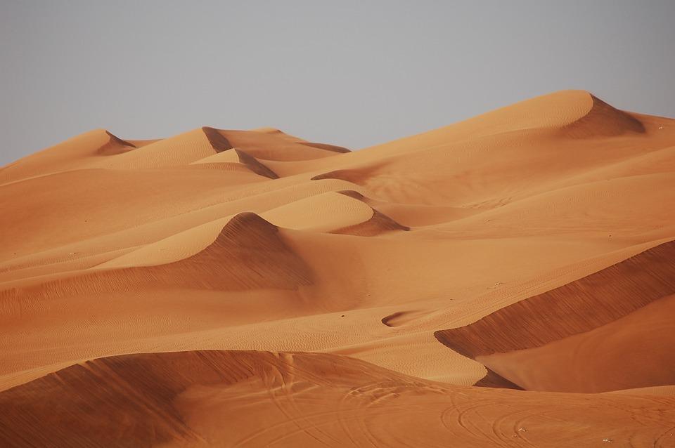 dunas del desierto EAU