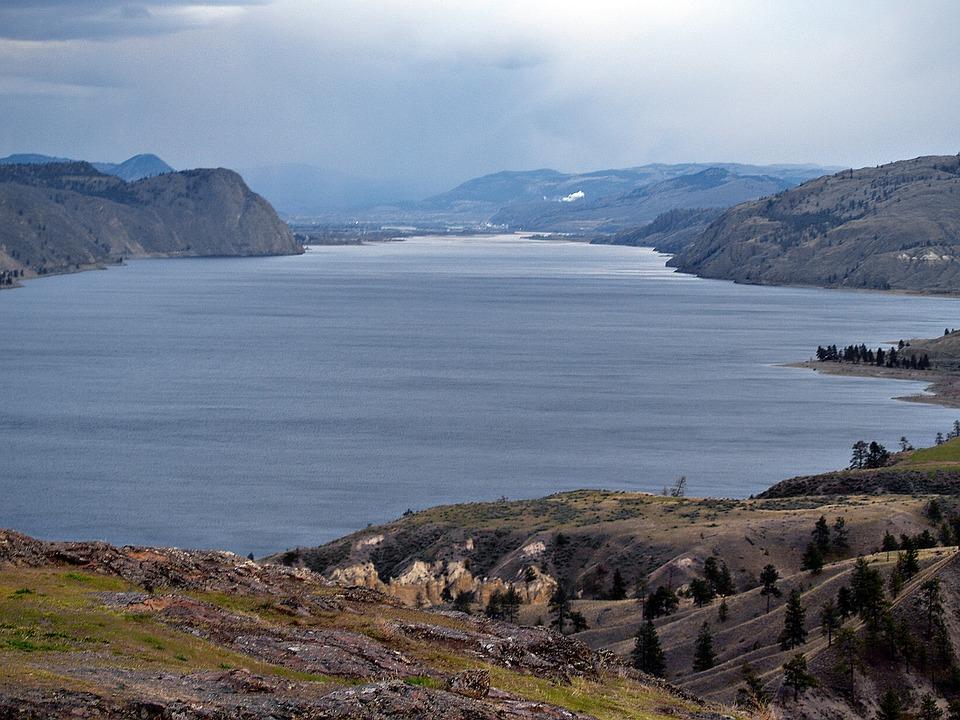 Lago Kamploops canada