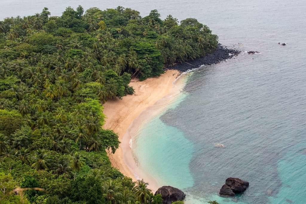 Las playas desérticas de Sao Tome